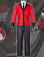 cheap -Inspired by Kakegurui / Compulsive Gambler Anime Cosplay Costumes Japanese Cosplay Suits Coat Blouse Pants For Men's / Tie / Necklace