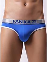 cheap -Men's Basic Briefs Underwear - Normal Mid Waist Light Blue White Black S M L