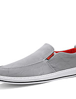 cheap -Men's Spring / Summer Casual Daily Outdoor Loafers & Slip-Ons Canvas Breathable Non-slipping Wear Proof Black / Gray