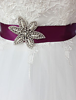 cheap -Satin / Tulle Wedding / Party / Evening Sash With Belt / Appliques / Crystals / Rhinestones Women's Sashes
