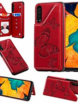 cheap -Case For Samsung Galaxy Samsung Galaxy A50 / Samsung Galaxy A50s / Samsung Galaxy A30s Card Holder / with Stand Back Cover Butterfly PU Leather