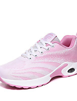 cheap -Women's Trainers / Athletic Shoes Spring / Fall Wedge Heel Round Toe Sporty Casual Daily Outdoor Knit Walking Shoes Black / Fuchsia / Pink