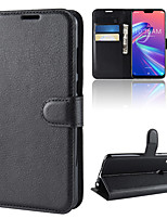 cheap -Case For Asus Wallet / Card Holder / Shockproof Full Body Cases Solid Colored PU Leather