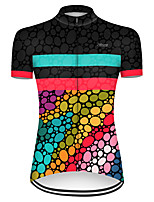 cheap -21Grams Women's Short Sleeve Cycling Jersey Nylon Polyester Black / Red Polka Dot Gradient Bike Jersey Top Mountain Bike MTB Road Bike Cycling Breathable Quick Dry Ultraviolet Resistant Sports
