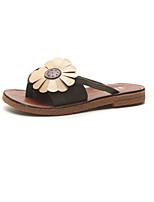 cheap -Women's Slippers & Flip-Flops 2020 Spring &  Fall / Spring & Summer Flat Heel Open Toe Casual Minimalism Daily Outdoor Microfiber Yellow / Pink / Green