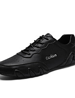 cheap -Men's Summer Chinoiserie Daily Oxfords PU Non-slipping Black / Beige