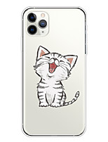 cheap -Case For Apple iPhone 11/11 Pro/11 Pro Max/XS/XR/XS Max/8 Plus/7 Plus/6S Plus/8/7/6/6s/SE/5/5S Transparent Pattern Back Cover Cute Cat Soft TPU