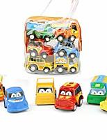 Недорогие -Игрушечные машинки Инерционная машинка мини Грузовик Мультфильм игрушки Цветной пластик Мини-автомобиль Транспортные средства Игрушки для вечеринки или подарок на день рождения для детей MC0166 6 pcs