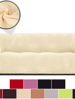 cheap -Solid Velvet High Quality Dustproof All-powerful Slipcovers Stretch Sofa Cover Super Soft Fabric Couch Cover with One Free Pillow Case