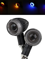 cheap -2pc Motorcycle Motorbike Turn Signal Lights LED Indicator Blinker Handle Bar End