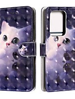 cheap -Case For Samsung Galaxy S20 / S20 Plus / S20 Ultra Wallet / Card Holder / with Stand Cute Cat PU Leather / TPU for Galaxy A51 / A71 / A41 / A21 / A11 / A01 / A50(2019) / A30S(2019)