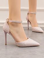 cheap -Women's Heels Summer Stiletto Heel Pointed Toe Daily PU Black / Pink / Gold