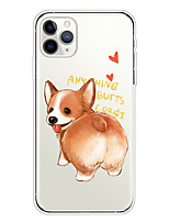 cheap -Case For Apple iPhone 11/11 Pro/11 Pro Max/XS/XR/XS Max/8 Plus/7 Plus/6S Plus/8/7/6/6s/SE/5/5S Transparent Pattern Back Cover Corgi Soft TPU