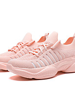 cheap -Women's Trainers / Athletic Shoes 2020 Fall Flat Heel Round Toe Sporty Casual Daily Outdoor Solid Colored Tissage Volant Running Shoes / Walking Shoes White / Pink / Green