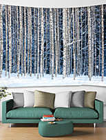 cheap -Snow Forest Digital Printed Tapestry Decor Wall Art Tablecloths Bedspread Picnic Blanket Beach Throw Tapestries Colorful Bedroom Hall Dorm Living Room Hanging