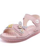 cheap -Girls' Comfort PU Sandals Toddler(9m-4ys) / Little Kids(4-7ys) Walking Shoes Flower Pink / Beige Spring / Summer
