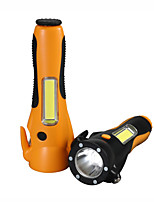 cheap -Six-in-one car safety hammer / emergency multi-function flashlight / 200-300M strong light long-range flashlight / three-block light adjustable / with cutter