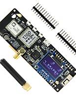 Недорогие -ttgo t-beam esp32 868 МГц Wi-Fi Беспроводной Bluetooth-модуль GPS Neo-6M SMA Lora32 18650 держатель батареи с Oled