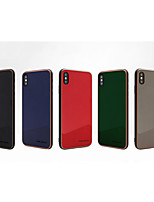 cheap -Case For Apple iPhone7/8/7P/8P/X/XS/XR/XS Max/11/11Pro/11Pro Max/SE 2020 Shockproof Back Cover Solid Colored PU Leather / TPU / Plastic