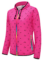 cheap -Women's Hiking Skin Jacket Hiking Jacket Summer Outdoor Windproof Sunscreen Breathable Quick Dry Jacket Top Single Slider Running Hunting Fishing Fuchsia / Green / Blue / Camping / Hiking / Caving