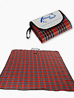 cheap -Picnic Blanket Outdoor Camping Rain Waterproof Anti-Slip Wearable Cotton Fabric 200*150 cm for 2 - 3 person Climbing Camping / Hiking / Caving Traveling Spring Summer Red Blue