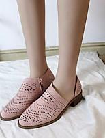 cheap -Women's Sandals Flat Sandal Summer Flat Heel Closed Toe Daily PU Black / Yellow / Pink