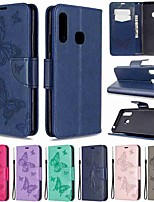 cheap -Case For Samsung Galaxy S20 / Galaxy S20 Plus / Galaxy S20 Ultra Wallet / Card Holder / with Stand Full Body Cases Two butterfly PU Leather / TPU for Galaxy A51 / A71 / A70E / A41 / A11 / A01 / A21