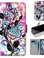 cheap -Case For LG Q70 / LG K50S / LG K40S Wallet / Card Holder / with Stand Full Body Cases Hollow Flower PU Leather / TPU for LG K30 2019 / LG K20 2019