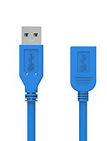Недорогие -1 м USB 3.0 мужской удлинитель USB 3.0 синхронизация данных высокоскоростной кабель разъем для жесткого диска ноутбука ПК принтер