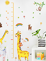 cheap -Kids Height Chart Wall Sticker Decor Cartoon Giraffe Height Ruler Wall Stickers Home Room Decoration Wall Art Sticker Poster 150x78cm