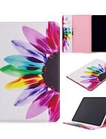 Недорогие -Кейс для Назначение Apple iPad Air / iPad 4/3/2 / iPad Mini 3/2/1 Кошелек / Бумажник для карт / со стендом Чехол Цветы Кожа PU