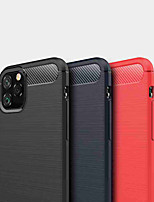 cheap -Case For Apple iPhone 11 / iPhone 11 Pro / iPhone 11 Pro Max Shockproof Back Cover Solid Colored TPU / Carbon Fiber