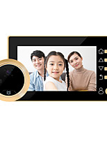 cheap -4.3-inch High-definition Intelligent Electronic Cat's Eyes Large-angle Video Doorbell Built-in Lithium Battery One-click Video Recording Long Standby