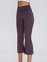 cheap -Women's Yoga Pants Wide Leg Black Dark Gray Light gray Elastane Running Fitness Gym Workout 3/4 Capri Pants Sport Activewear Breathable Moisture Wicking Soft High Elasticity Loose