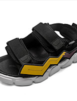 cheap -Men's Summer Casual Daily Sandals Walking Shoes Microfiber Breathable Black