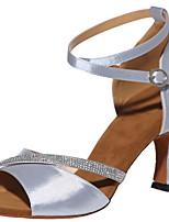 cheap -Women's Latin Shoes PU Heel Cuban Heel Dance Shoes Black / Red / Gold
