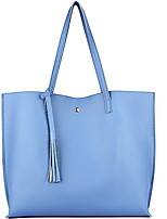 cheap -Women's PU Leather Top Handle Bag Leather Bags Solid Color White / Black / Blue