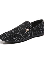 cheap -Men's Spring & Summer / Fall & Winter Casual Daily Outdoor Loafers & Slip-Ons Walking Shoes Faux Leather / PU Breathable Waterproof Non-slipping White / Black