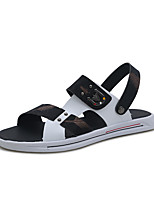 cheap -Men's Fall / Spring & Summer Casual Daily Outdoor Sandals PU Breathable Non-slipping Shock Absorbing Black / Gold / Black / Silver / Black / Blue Color Block