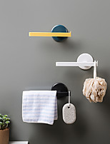 cheap -Mounted Towel Holder Plastic Towel Rack Bathroom Kitchen Towel Hanging Hanger Kitchen Bathroom Organizer Shelf Random Color