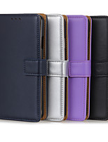cheap -Case For Sony Sony Xperia 10 / Sony Xperia 1 II Card Holder / Shockproof Full Body Cases Solid Colored PU Leather