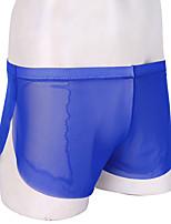cheap -Men's Mesh Boxers Underwear - Normal Low Waist Yellow Blue White M L XL