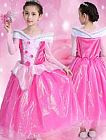cheap -Princess Sleeping beauty Aurora Dress Flower Girl Dress Girls' Movie Cosplay A-Line Slip Pink Dress Children's Day Masquerade Tulle Polyester