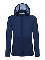 cheap -Men's Hiking Skin Jacket Hiking Jacket Summer Outdoor Waterproof Sunscreen Breathable Quick Dry Jacket Hoodie Top Running Hunting Fishing Light Grey / Dark Blue / Light Blue