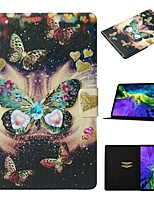 cheap -Case For Apple iPad Air / iPad Mini 3/2/1 / iPad Mini 4 Card Holder / with Stand / Pattern Full Body Cases Butterfly PU Leather For iPad New Air 2019 10.5/Pro 11 2020/Mini 5/iPad 10.2/2017/2018