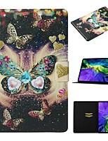Недорогие -чехол для яблока ipad air / ipad mini 3/2/1 / ipad mini 4 держатель карты / с подставкой / выкройка чехол для всего тела бабочка искусственная кожа для ipad new air 2019 10.5 / pro 11 2020 / mini 5 /