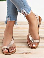 cheap -Women's Sandals Flat Sandals Bunion Sandals Orthopedic Sandals Summer Flat Heel Open Toe Daily PU Black / Gold / Silver
