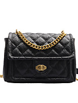 cheap -Women's Chain Polyester / PU Top Handle Bag Leather Bags Solid Color White / Black / Blue / Fall & Winter