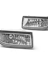 cheap -Pair Clear Car Front Driving Fog Lights Lamp with 9006 Bulbs 55W For Toyota Land Cruiser 1998-2007