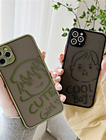 cheap -Case For Apple iPhone 11 / iPhone 11 Pro / iPhone 11 Pro Max Shockproof / Dustproof / Frosted Back Cover Word / Phrase / Transparent / 3D Cartoon TPU / PC for iPhone  6/7/8/678plus/XS/XR/XS MAX/SE